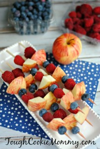 Red, White And Blue Fruit Skewers Recipe