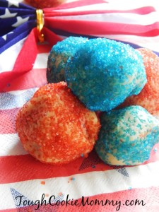 Fourth Of July No Bake Cookie Dough Balls