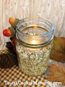 Fall Safflower Seed Luminary #DIY