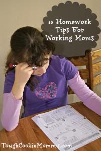 10 Homework Tips For Working Moms