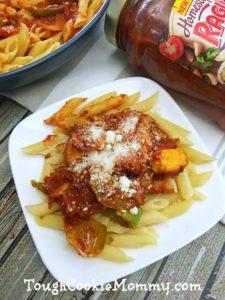 Chicken Fajita Penne @ragusauce #Ad