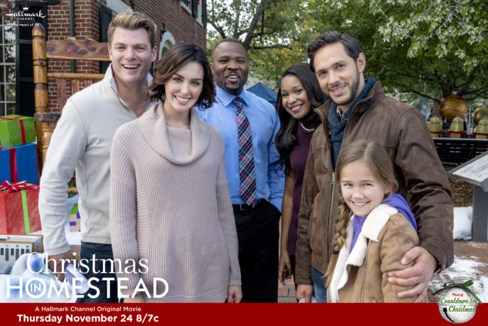 Life is turned upside down for the handsome mayor of Homestead when a Hollywood movie comes to shoot there in the middle of the Christmas season. And when the movie's producer - and leading lady - starts falling for the mayor, a widower whose precocious daughter just happens to be her biggest fan, Christmas in Homestead gets a whole lot more complicated for everyone. Photo: Credit: Copyright 2016 Crown Media United States LLC/Photographer: Curtis Bonds Baker