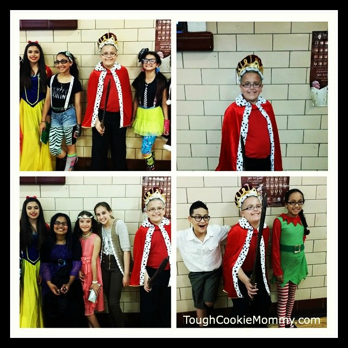 My son and the other members of his Glee Club posing for pics after the Spring Production