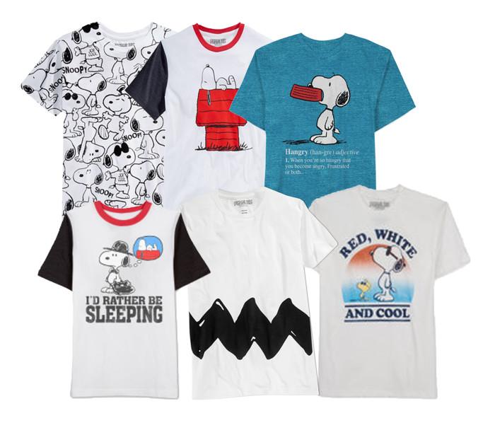 PeanutsMensT-shirtComposite