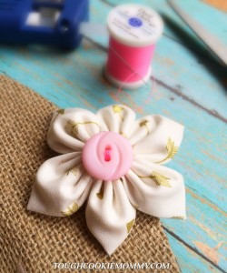 DIY Flower Clip Hair Accessory