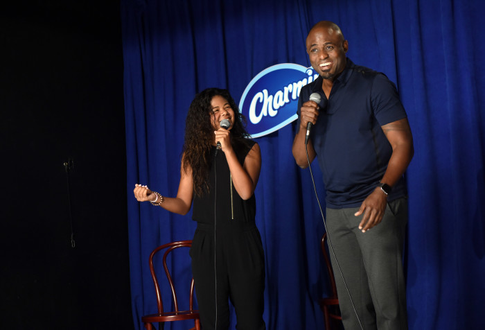 Comedian and improv artist Wayne Brady hosts CharminÕs ÒKeep it Clean Comedy Show,Ó Tuesday, Aug. 25, 2015, in ManhattanÕs lower east side featuring aspiring young comedians in celebration of National Toilet Paper Day. (Photo by Diane Bondareff/AP Images for Charmin)