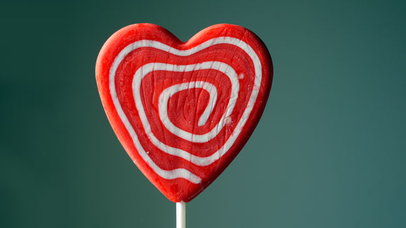 valentines-day-chocolate-heart-lollipop-red-white-swirl-free-stock-photo
