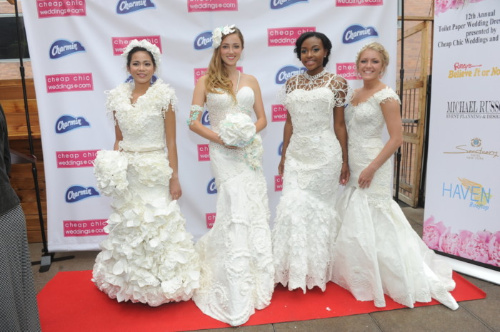 12th Annual Toilet Paper Wedding Dress Contest presented by Cheap Chic Weddings and Charmin, Thursday, June 16, 2016 in New York.  (Diane Bondareff/AP Images for Charmin)