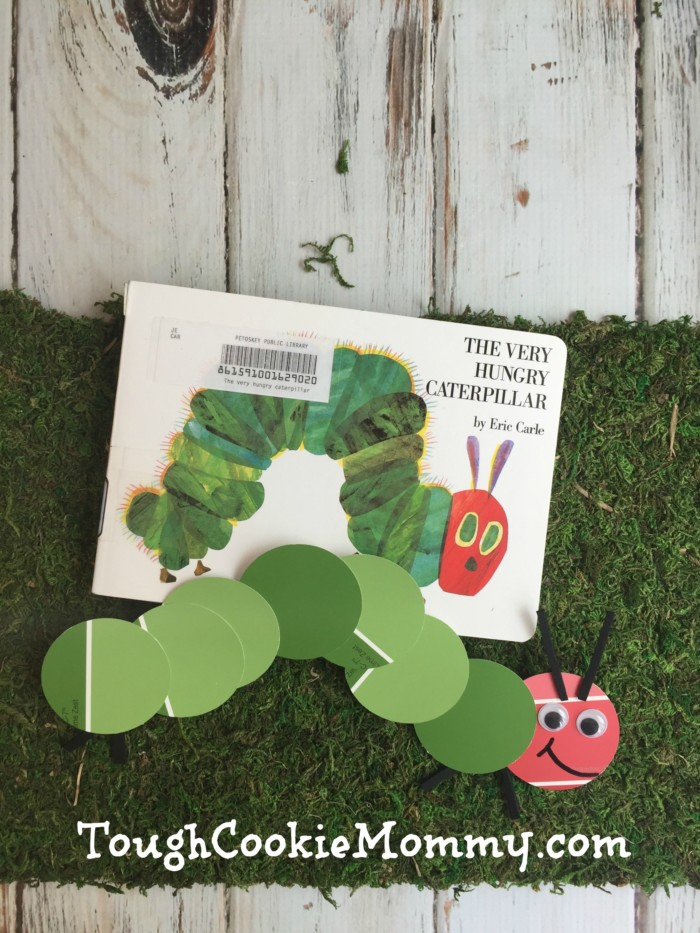 The Very Hungry Paint Chip Caterpillar Craft