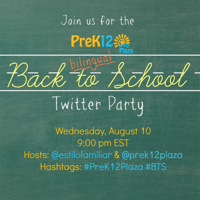 Bilingual PreK12Plaza Back to School Twitter Party