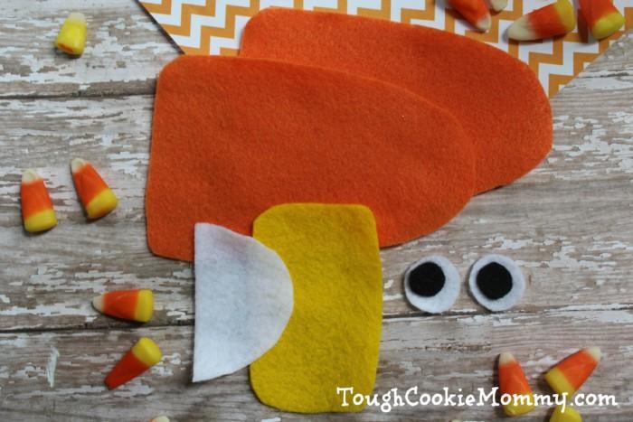 Felt Candy Corn Puppet Craft