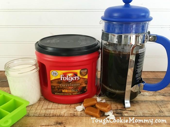 Salted Caramel Iced Coffee