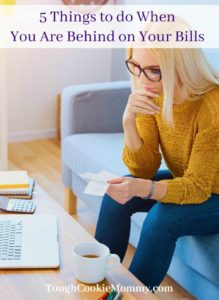 5 Things To Do When You Are Behind On Your Bills