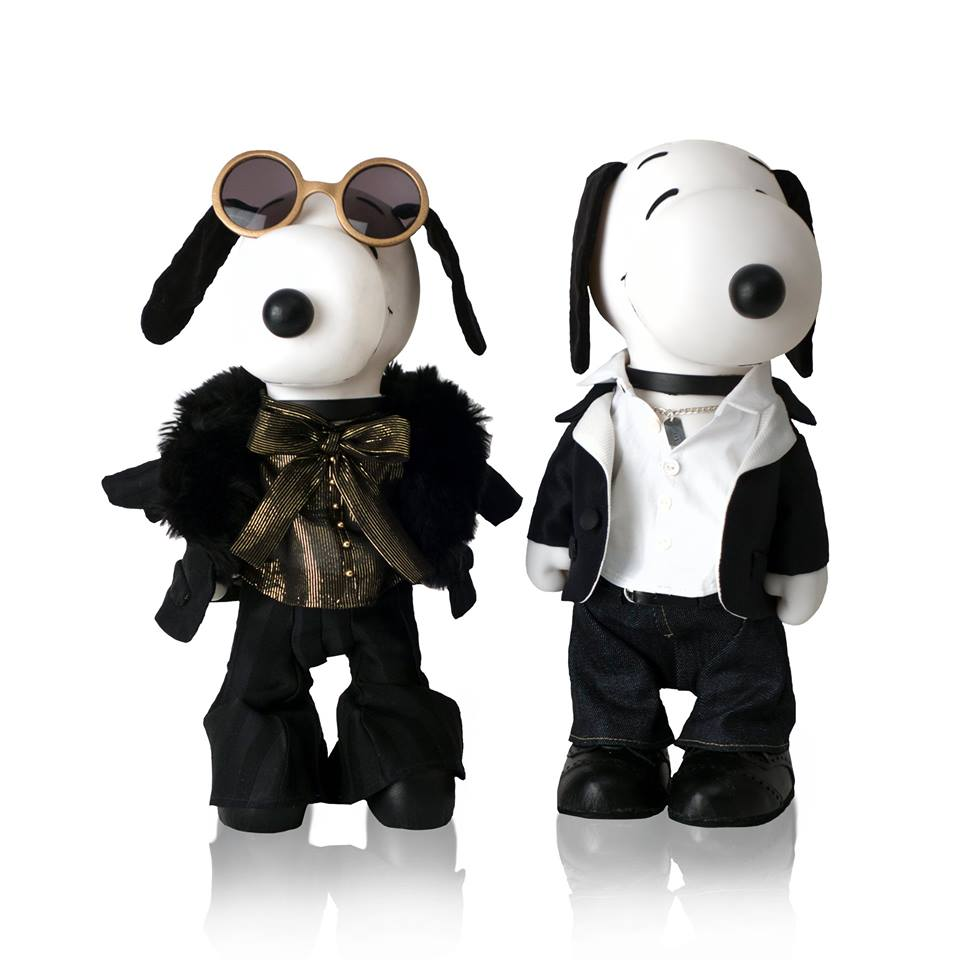 Snoopy and Belle In Fashion Exhibit