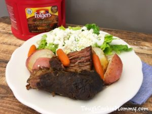 Coffee Rubbed Pot Roast @Folgers #Folgers #Ad