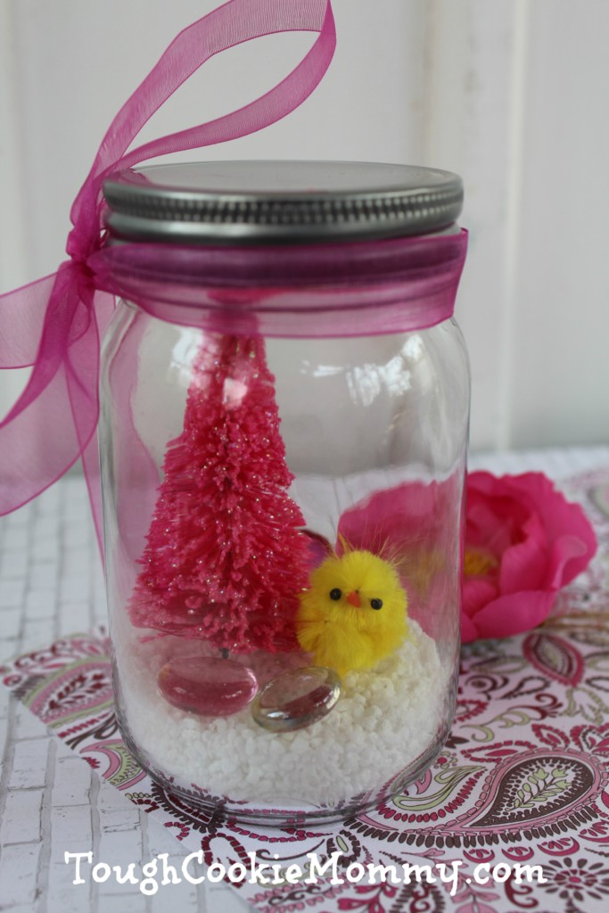 DIY Easy Spring Snow Globe