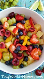 Honey Lime Rainbow Fruit Salad