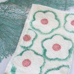 DIY Hand Stamped Flower Towel