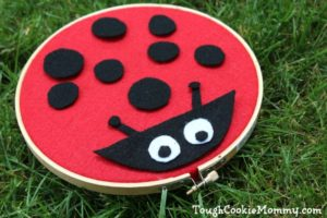 Felt Lady Bug Craft