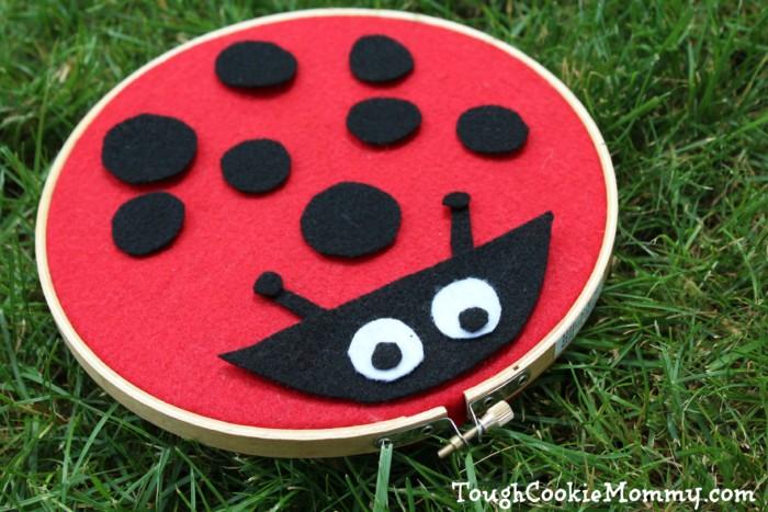 Felt Lady Bug Craft