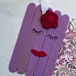 DIY Purple Craft Stick Unicorn