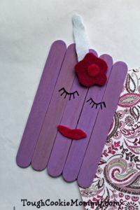 DIY Purple Craft Stick Unicorn