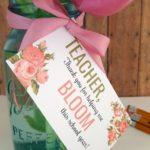 Bloom Teacher Gift Tag Printable