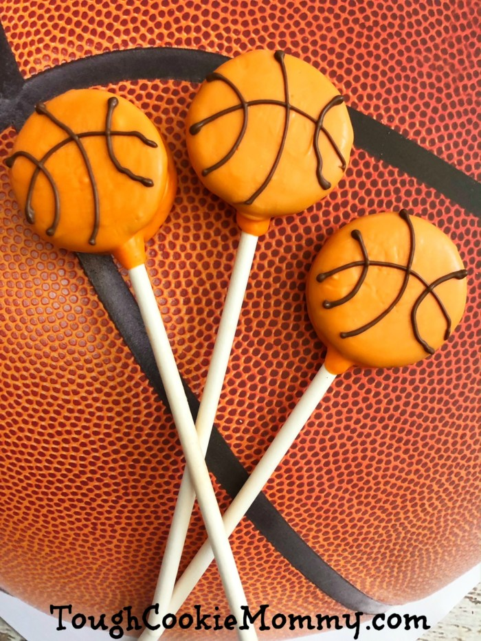 Basketball Cookie Pops